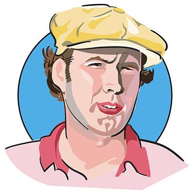 Digital Art - Caddyshack Ty Webb by Matt Hood