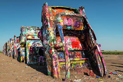 Photograph - Cadillac Ranch - Amarillo Texas Landmark by Gregory Ballos