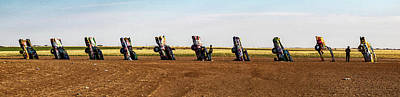 Photograph -  Cadillac Ranch  by Jeff Folger