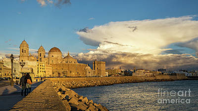 Photograph - Cadiz Skyline And Cathedral Under Cumulonimbus by Pablo Avanzini