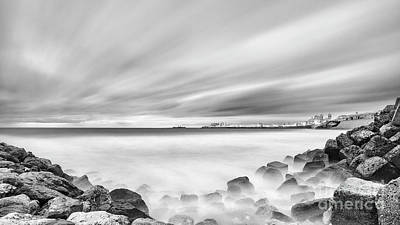 Photograph - Cadiz Skyline From Santa Maria Del Mar Beach Spain by Pablo Avanzini