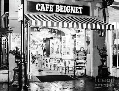 Photograph - Cafe' Beignet At Night New Orleans by John Rizzuto