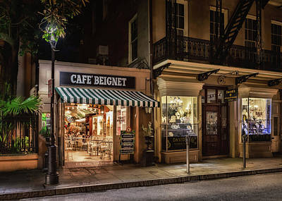 Photograph - Cafe Beignet by Susan Rissi Tregoning