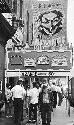 Photograph - Cafe Bizarre, 1959 by Fred W. McDarrah