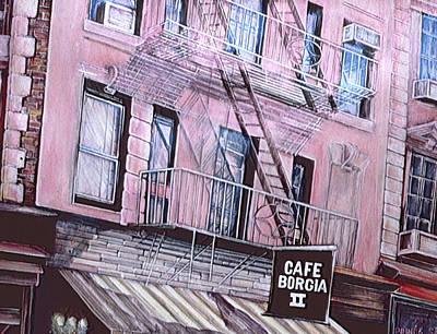 Wall Art - Painting - Cafe Borgia by Gaye Elise Beda
