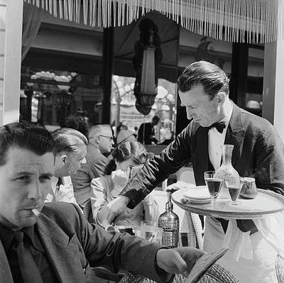 Drinking Photograph - Cafe Culture by Bert Hardy