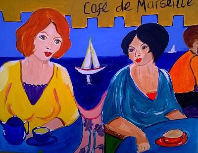 Painting - Cafe De Marseille by Rusty Gladdish