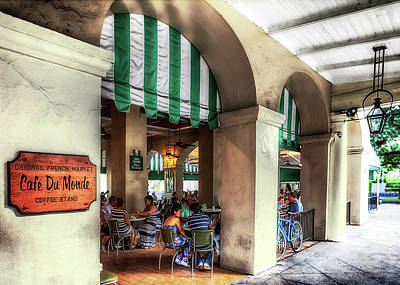 Photograph - Cafe Du Monde Coffee Stand by Susan Rissi Tregoning
