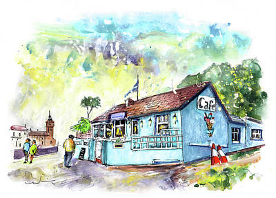 Painting - Cafe Harbourview In Porthleven by Miki De Goodaboom