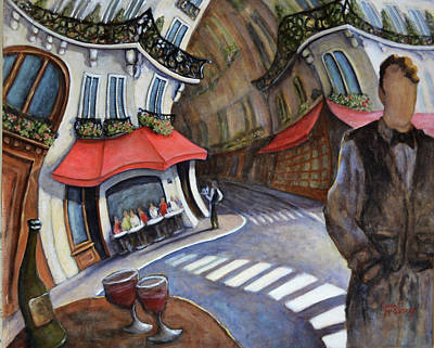 Painting - Cafe On Ile St Louis- Paris by Linda Mccluskey