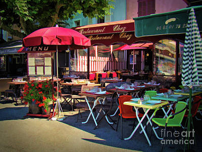 Photograph - Cafe Scene In France by Sue Melvin