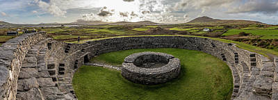 Photograph - Cahergall Stone Fort Ireland Panaramic  by John McGraw