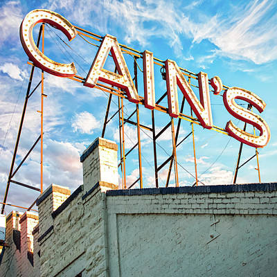Photograph - Cain's Ballroom Downtown Tulsa Oklahoma - Square Format by Gregory Ballos