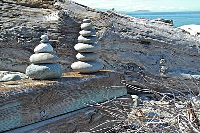 Photograph - Cairns At Dungeness Spit by Michele Myers