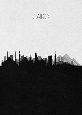 Digital Art - Cairo Cityscape Art by Inspirowl Design