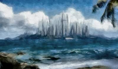 Digital Art - Caladan Across The Sea by Mario Carini