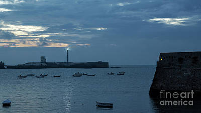 Photograph - Caleta Cove At Dusk Between Castles Cadiz Spain by Pablo Avanzini