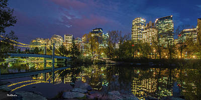 Photograph - Calgary Skyline At Night by Tim Kathka