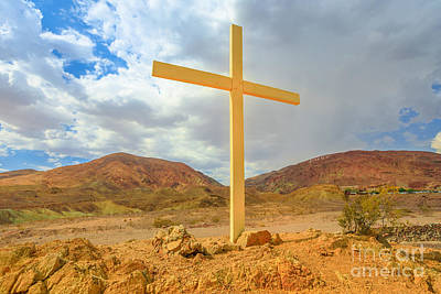 Photograph - Calico Cross Ghost Town by Benny Marty