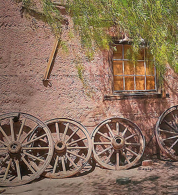 Photograph - Calico Ghost Town Wagon Wheels by Barbara Snyder