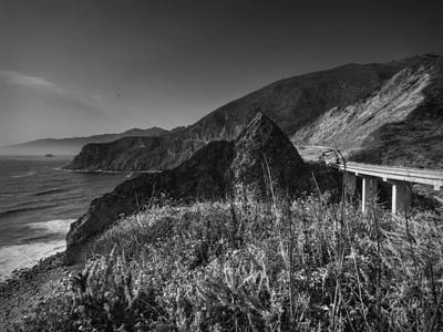 Photograph - California - Big Sur 011 Bw by Lance Vaughn