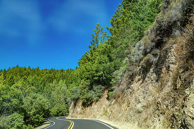 Travel Pics Royalty-Free and Rights-Managed Images - California Clouds Highway One by Betsy Knapp