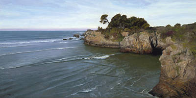 Wall Art - Painting - California Coastline by Terry Guyer