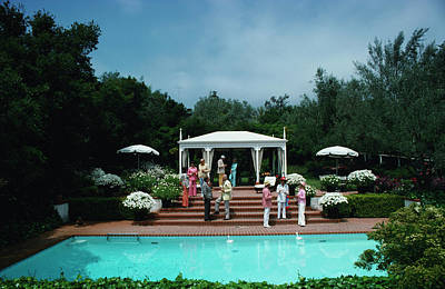 Flower Photograph - California Garden Party by Slim Aarons