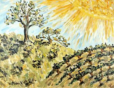 Painting - California Landscape by Maria Langgle