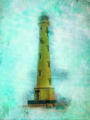 California Lighthouse Aruba Art Print