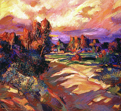 Painting - California Pastoral Sunset by David Lloyd Glover