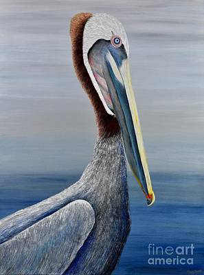 Painting - California Pelican by Mary Scott