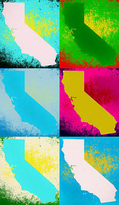 Mixed Media - California Pop Art Panels by Dan Sproul