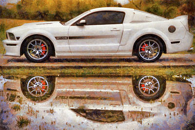 Photograph - California Special Reflections - Mustang Gt/cs - Painting by Jason Politte