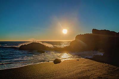 Photograph - California Sunset - Black Sands Beach by Bill Cannon