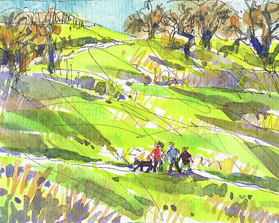 Painting - California Winter Walk by Judith Kunzle
