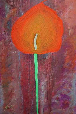 Painting - Calla Lily Original Painting by Sol Luckman