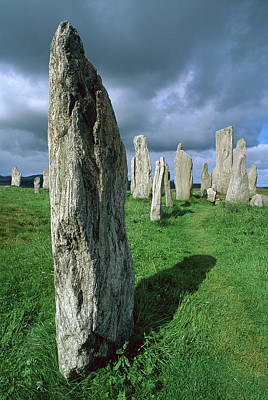 Photograph - Callanish Standing Stones, Erected by Grant Dixon/ Hedgehog House/ Minden Pictures