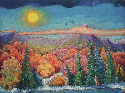 Painting - Calling For Snow by Lynn Bywaters