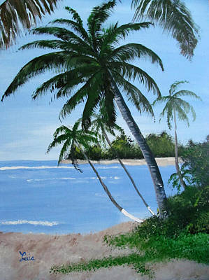 Painting - Calm In The Palms by Luis F Rodriguez