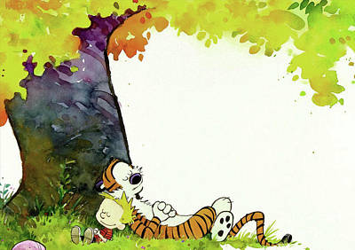 Calvin And Hobbes Sleeping Original