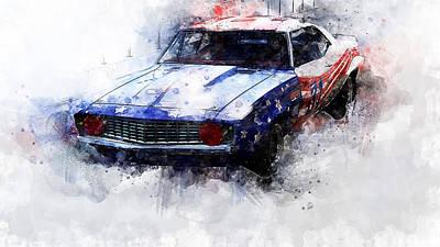 Painting - Camaro Z28 Transam - 21 by Andrea Mazzocchetti