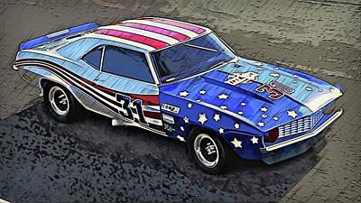Painting - Camaro Z28 Transam - 25 by Andrea Mazzocchetti