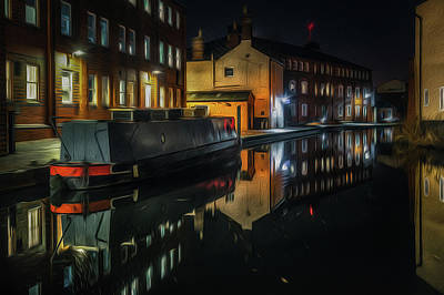Photograph - Cambrian Wharf Reflection by Chris Fletcher