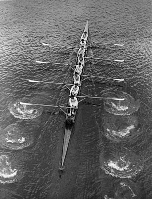Recreational Boat Photograph - Cambridge At Chiswick by J. A. Hampton Hudson