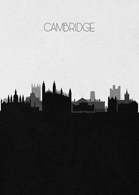 Digital Art - Cambridge Cityscape Art by Inspirowl Design