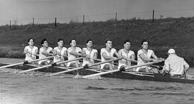 Oar Photograph - Cambridge Crew by William Vanderson