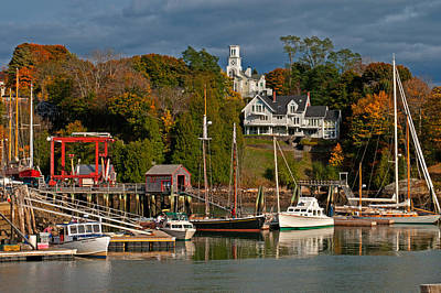 Photograph - Camden Harbor by Paul Mangold