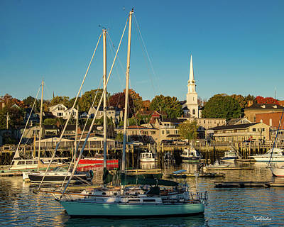 Photograph - Camden Maine Harbor by Tim Kathka