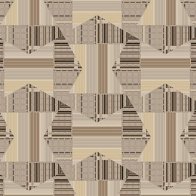 Digital Art - Camel Beige Pattern Art by Judi Suni Hall